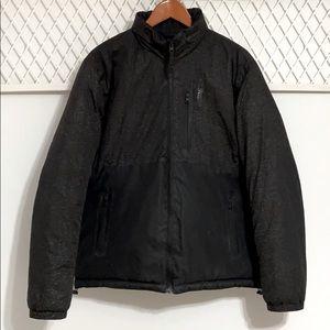 AMERICAN EAGLE Hidden Hood Puffer Jacket Black